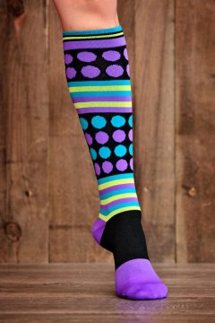 Rockin' Dot 15-22 mmHg Compression Socks